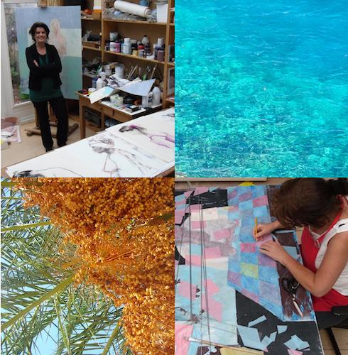Deze week is bedoeld voor kunstenaars en beeldend therapeuten die inspiratie willen opdoen en een impuls willen geven aan hun eigen proces en beeldend werk. Deze week staat in het teken van het loslaten van alle kennis en verworven technieken. We vertrekken vanuit onze innerlijke stilte en gaan opnieuw leren kijken, luisteren, voelen en schilderen. We laten ons inspireren door de elementen lucht, water, aarde, vuur en hout. We verbinden ons met deze natuurlijke elementen van het Griekse landschap en stellen ons open voor een nieuwe manier van ervaren en verbeelden.