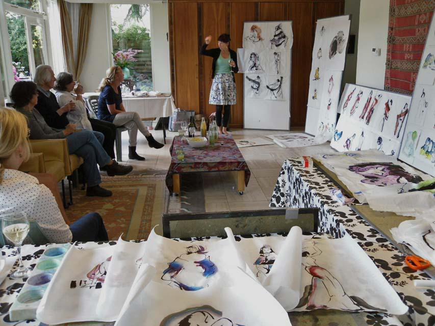 sumi-e workshop bij Marie Jose Leenders